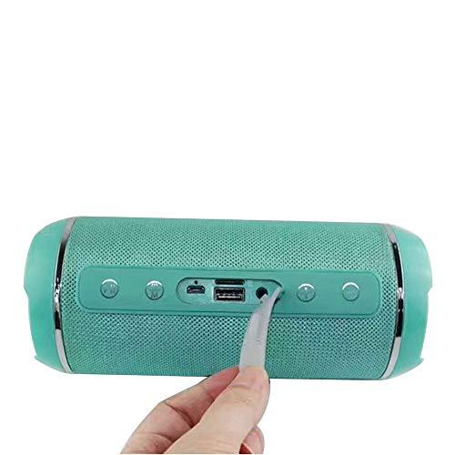 HULDORO TG116 Tela Impermeable de la Tarjeta del Altavoz Bluetooth inalámbrico Altavoces duales Minifalda portátil subwoofer estereofonía subwoofer (Color : F, Size : 80 * 80 * 180mm)