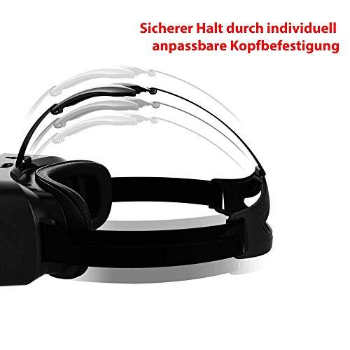 VR-3D Virtual Reality Brille, Universal kompatibel mit allen gängigen Smartphones in der Größe 4 bis 6 Zoll, Modelle wie z.B. Samsung, iPhone,Google Nexus, Sony,Huawei, Xiaomi, HTC,LG,u.v.a
