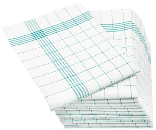 ZOLLNER 12er Set Geschirrtücher Halbleinen, 50x70 cm, grün (weitere verfügbar)