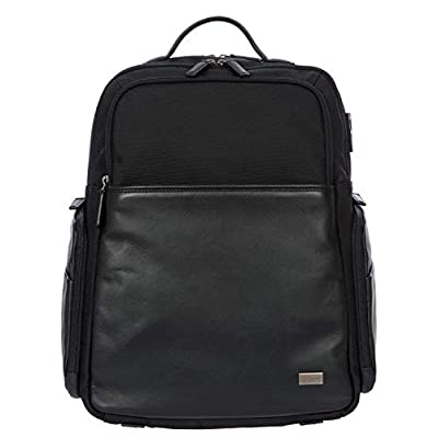 Bric's Monza Large Laptop|Tablet Business Backpack, Black/Black, One Size