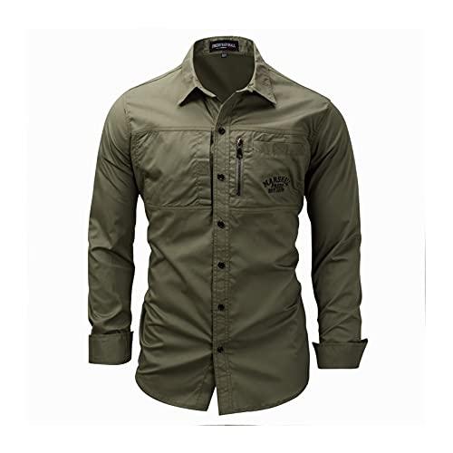 Camisas Formales de Manga Larga para Hombres, Camisas de Botones Casuales, Suaves y cómodos, adecuados para: Trabajo, Negocios, Fiesta (Color : 3, Size : XL)