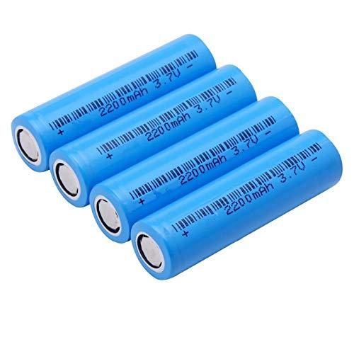 ndegdgswg Batería Recargable De Iones De Litio De 3.7v 2200mah Ncr18650, Capacidad Real para La Batería De La Base De La Linterna 4pcs