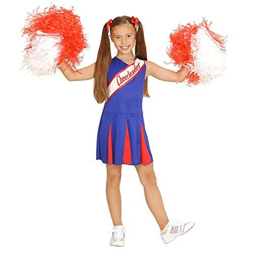 Widmann 03077 - Costume da Cheerleader, in Taglia 8/10 Anni - 140 Centimetri