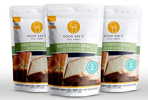 Good Dee's Multi-Purpose Bread Mix (3 Pack) - Low Carb Keto Baking Mix (2g Net Carbs, 12 Servings) | Gluten-Free, Sugar-Free, Grain-Free & Dairy-Free | Diabetic, Atkins, WW Friendly