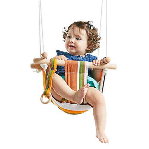 HAPPY PIE PLAY&ADVENTURE Secure Canvas Hanging Swing Seat...