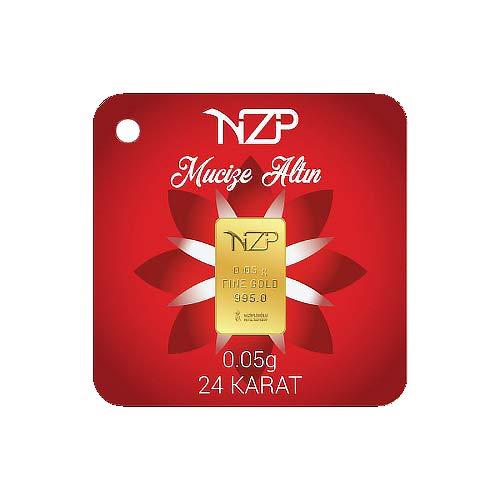 Nzp Goldbarren 0,05 Gramm Goldbarren, 0,05g Gold, Feingehalt 995