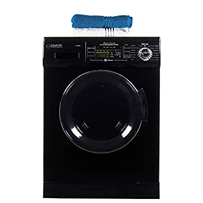 Equator 24 inch Compact New Version All-in-One Combo Washer-Dryer, Vented or Ventless, 1200 RPM, Auto Water, Auto Dry, Winterize, Quiet, Fully Digital in Black, 2019 Model