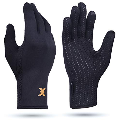 Thx4COPPER Infused Compression Winter Thermal Gloves, Touch Screen Full Finger Warm Glove for...