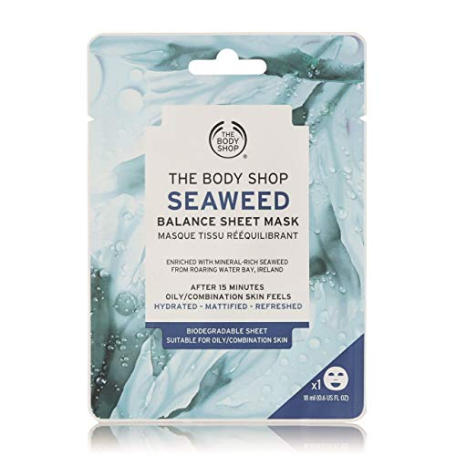 The Body Shop 1 máscara de hoja de balance de algas marinas de 18 ml