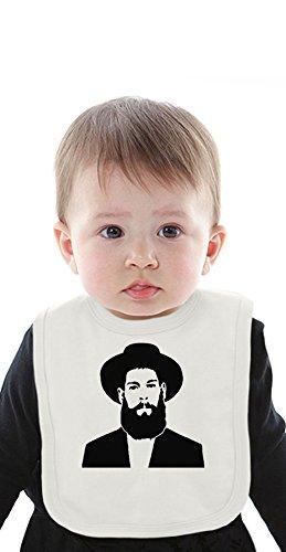 Matisyahu Black And White Organic Baby Bib With Ties Medium