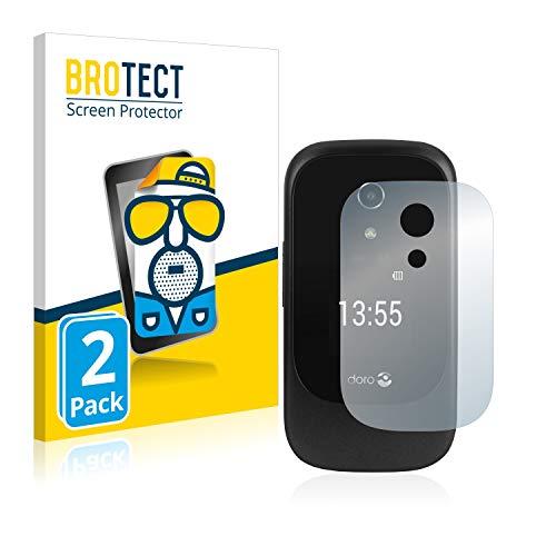 BROTECT 2X Entspiegelungs-Schutzfolie kompatibel mit Doro 7060 (Äußeres Bildschirm) Bildschirmschutz-Folie Matt, Anti-Reflex, Anti-Fingerprint