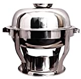 MTC Stainless Steel Chafing Dish, Round with Lid (7.5 LTR; 2 Pieces)