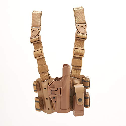 BLACKHAWK! Serpa Level 2 Glock 17 and 19 Tactical Holster with Tactical Magazine Pouch, Tan