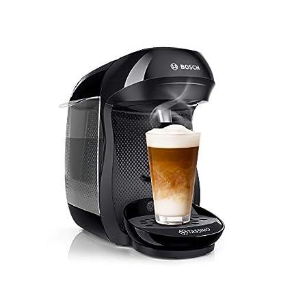 Bosch Tassimo Happy TAS1002 - Cafetera de cápsulas con tecnología Intellibrew, 1400 W, color negro
