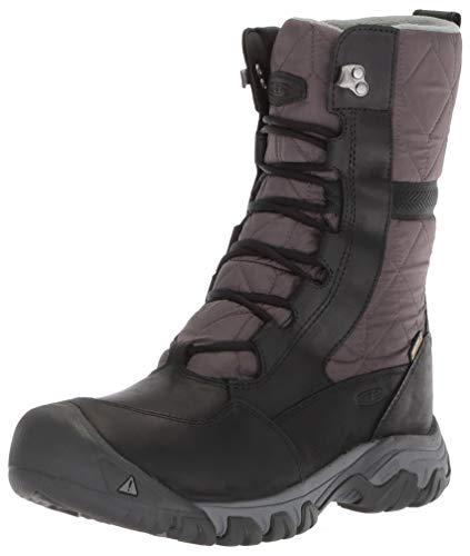 KEEN Women's Hoodoo III Tall Mid Calf Boot, Black/Magnet, 8 M US