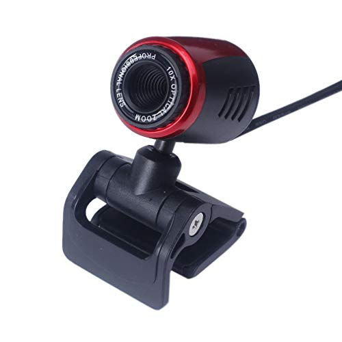 USB2.0 HD webcam camera webcam met microfoon voor computer pc laptop Digitale HD videocamera Praktische camera - zwart + rood
