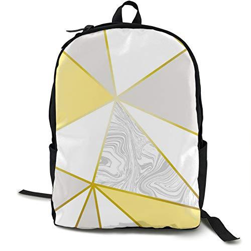 Leichter Rucksack, faltbar, ultraleicht, verstaubarer Rucksack, Zara Marmor Metallic Senfgold, Unisex, langlebig, handlich, Tagesrucksack für Reisen und Outdoor-Sportarten