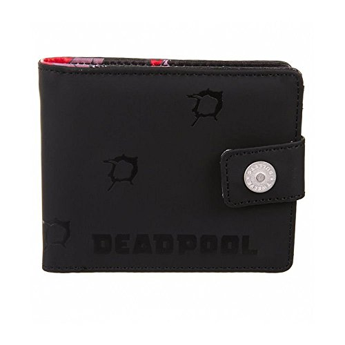 Deadpool Monedero doce balas negro rojo 11,5x9,5x1,5cm