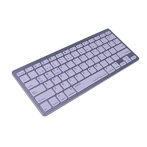 HLIANG Teclado Inalambrico Teclado Inalámbrico Bluetooth para Tablet Smart Phone Teclado Tablet (Color : Spanish)