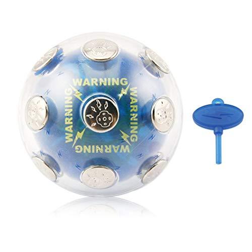 Nrew Schockierender Spaßball Schockierender Ball Unterhaltung Elektrischer Schockball Spielzeug Blau