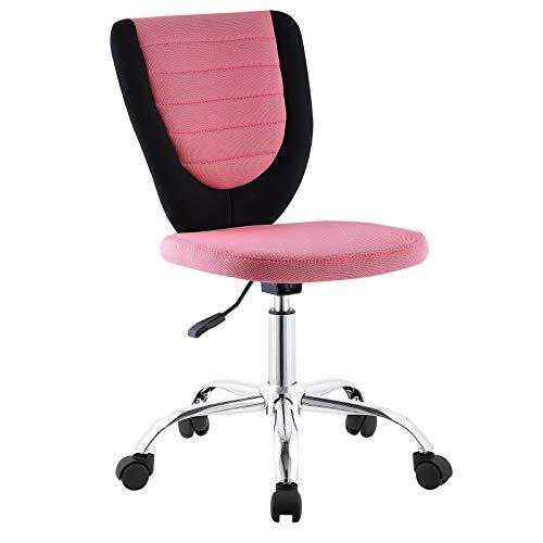 CARO-Möbel Kinderdrehstuhl Future Schreibtischstuhl Drehstuhl in schwarz/pink, höhenverstellbar