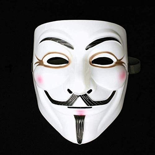 ZWWZ Mscaras de Halloween V for la mscara de la Venganza de Guy Fawkes Annimo Disfraz de Cosplay del Vestido HAIKE ( Color : 1 )