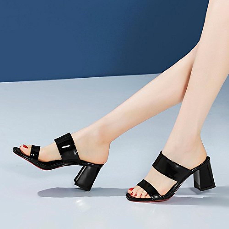 Im Sommer, Meine Damen Mit Rauen Hochhackige Schuhe, Wort Ziehen,Weiße,Eu38  | Verrückte Preis  | Fuxin