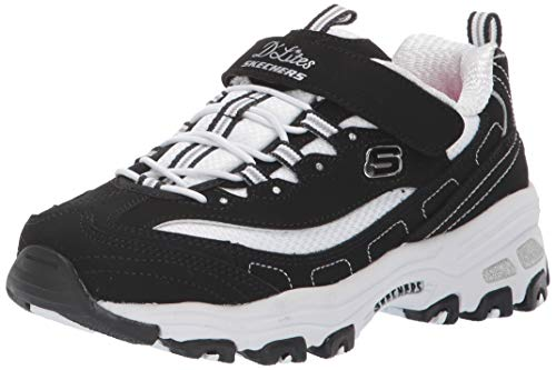 Skechers 80588L BKW Sneaker Niños Negro