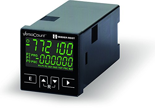 VersaCount XP Multifunction Counter with 2 Relays, Green screen, 100-240 VAC, USB programmable, LCD, Compact Size, Configurable for multiple functions, part # VC773-542