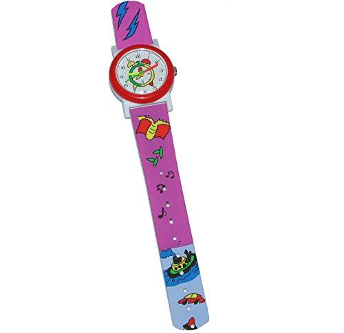 alles-meine.de GmbH Kinderuhr - U-Boot Auto Rakete - Uhr für Kinder - Armbanduhr Analog für Mädchen und Jungen