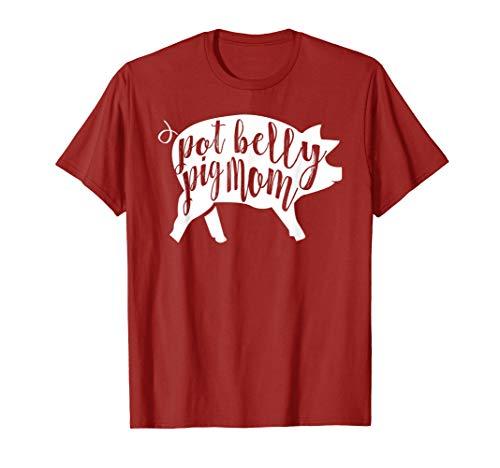 Pot Belly Pig Mom T-Shirt for Women