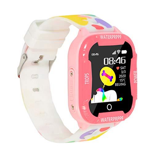 Zwbfu Reloj Inteligente para niños Pantalla táctil de 1,44 Pulgadas con rastreador WiFi LBS Reloj Inteligente para niños Llamada telefónica SOS Cámara de Chat de Video de Voz IP67 Reloj de Pulsera