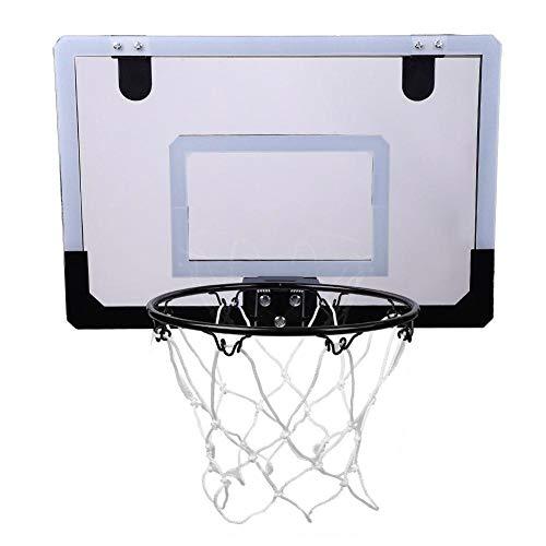 An der Wand montiertes Basketballkorb-Backboard, Mini-Indoor-Basketballkorb mit Rückwand, Kugelpumpe, Kinder-Basketball-Backboard zum Aufhängen über Türen zu Hause, im Büro oder im Schlafzimmer