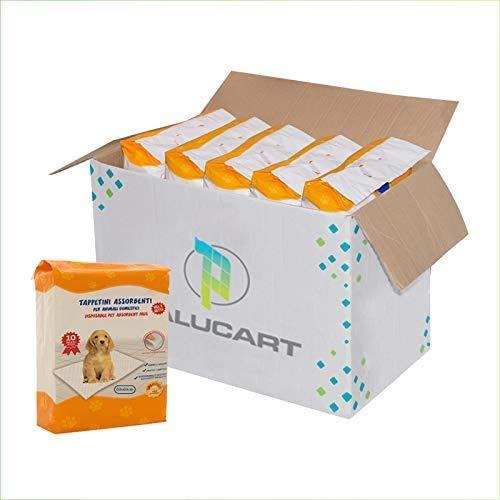 Palucart® tappetini igienici per Cane 60x60 traversine per Cani - 280 - Pezzi Animali Domestici con Adesivo Anche per Gatti Anti Odore