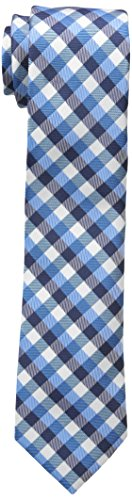 Dockers Big Boys Check Plaid Tie, Blue, OS