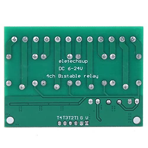 Mxzzand Módulo de relé de Tablero de interruptores electrónicos con Disparador Duradero y autoblocante para diodos emisores de luz
