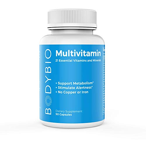 BodyBio - Multivitamin, 21 Vitamins, Minerals, Nutritional Elements - Healthy Metabolism & Immune System, 90 Capsules, SP805