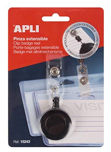 APLI 15243 - Pinza extensible para identificador color negro