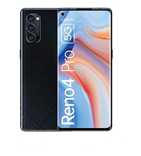 OPPO Reno4 Pro 5G, 6.5 Zoll 90 Hz AMOLED-Display, 48MP Triple-Kamera + 12MP Ultra Nacht Weitwinkel Videokamera, 32MP Frontkamera, inkl. Gutschein [Exklusiv bei Amazon], Space Black – Deutsche Version