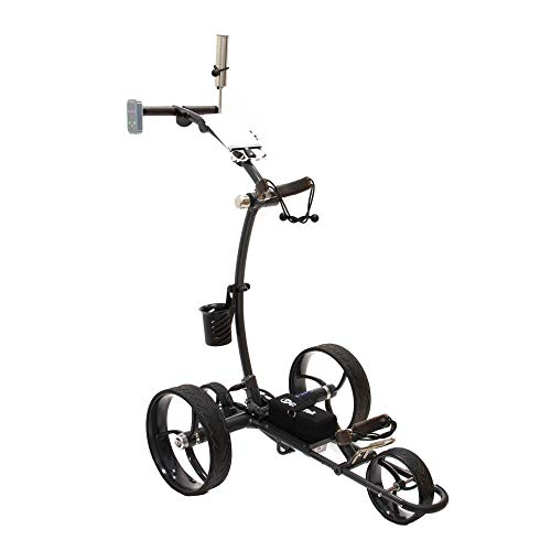 Cart-Tek Electric Golf Push cart with Remote Control - GRi-1500LTD (V2) Lithium Battery Electric Golf Caddy w/Free Accessory Bundle! Experience Luxury on The Links, Stop lugging Your Bag Today!