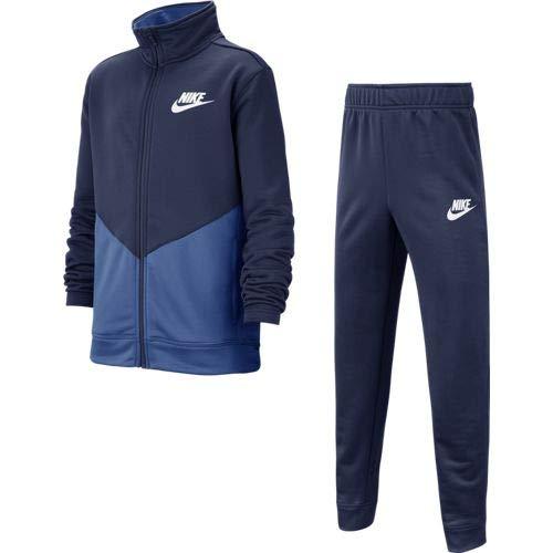 Nike Kinder B NSW Core TRK Ste Ply Futura Trainingsanzug, bleu Marine/bleu/Blanc (Midnight Navy/Mountain Blue/White), S