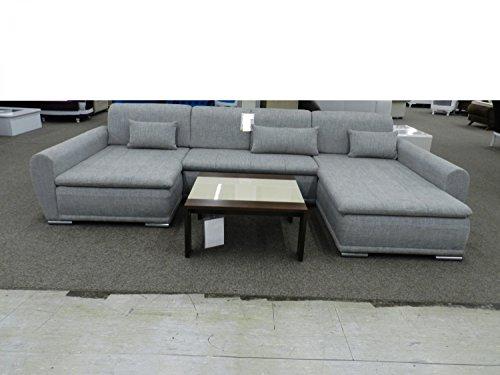 Royal Moebel Expositor Pieza Angular sofá Esquina Couch Escobillero Gris Claro Color Blanco con función Dormir