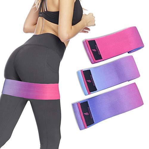 Beautifive Resistance Hip Bands 3er Pack, Fitnessbänder Gymnastikband Set, Loop Fitness Bänder Training, Bestes Widerstandsbänder Krafttraining, Trainingsband für Booty, Beine, Po & Hüften