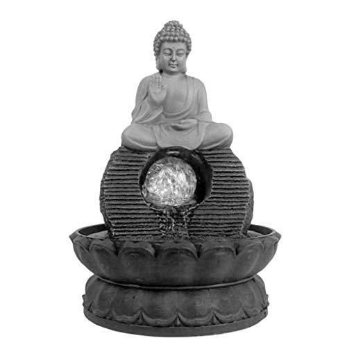 Fuentes Decorativas Fuente de Escritorio Feng Shui auspiciosos Estatua de Buda Fluye función de Fuente de Agua de Agua de Mesa Retro decoración del hogar