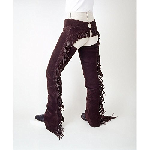 Tough-1 Suede Leather Western Show Chaps X-Small B