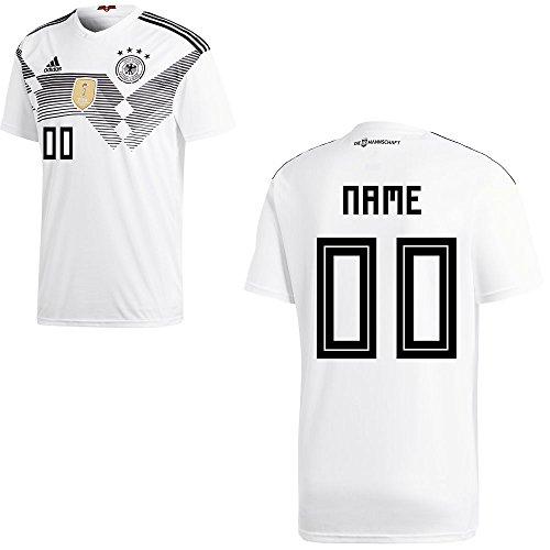 adidas DFB Deutschland Fußball Trikot Home Heimtrikot WM 2018 Herren Kinder mit Spieler Name Farbe Ihr Wunschname, Größe S