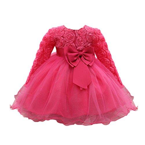 Rawdah Bimba Vestito del battesimo 6 - 12 mesi caldo rosa