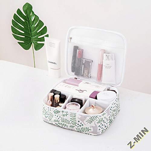Z-MIN Sac de Rangement portatif Portable Petite Dame Mini boîte de Maquillage Sac de Produit Sac de Lavage, Jardin de Chat B