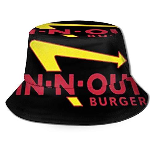 LianLiYa in-N-Out-Burger Logo Verano Unisex Casual Impreso Pescador Sombrero Viaje Cubo Sombrero...