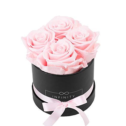 Infinity Flowerbox 2-BB-BP Small Noir Rose de mariée, Carton, Bridal Pink, 10 x 10 x 10 cm